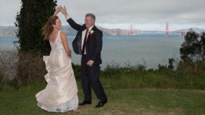Spinning Bride at the Golden Gate Bridge