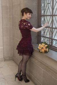 Ballerina Bride at City Hall