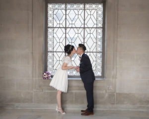 Wedding Kiss at City Hall