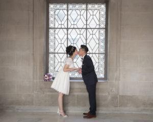 Wedding Kiss at City Hall