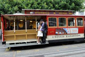 San Francisco Cable Car wedding photography