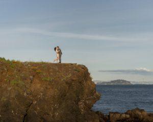 Engagement portrait session overlooking San Francisco