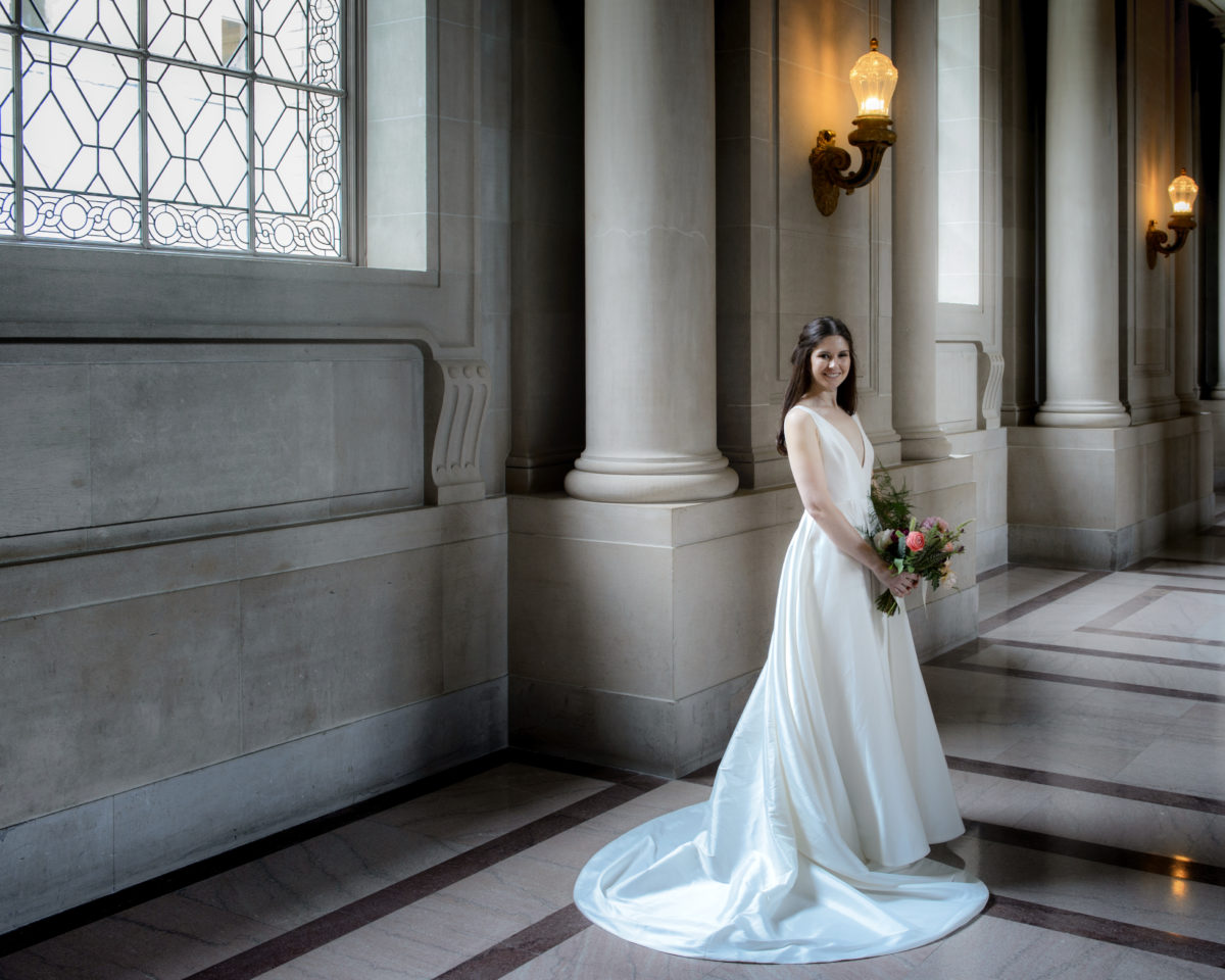 Elegant Bride at San Francisco City Hall
