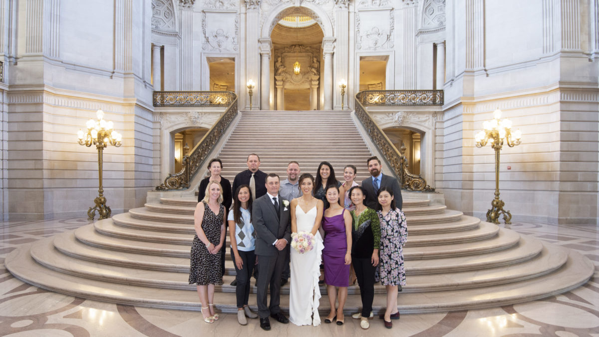 Some SF city hall wedding photography
