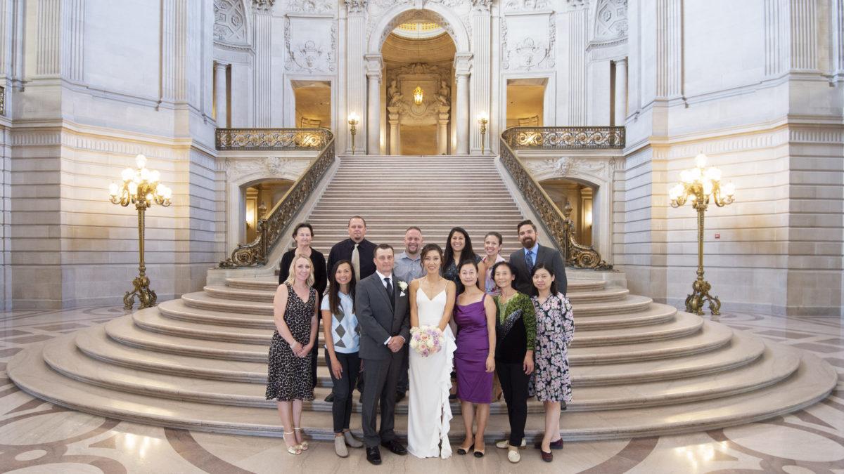 Some SF city hall wedding photography
