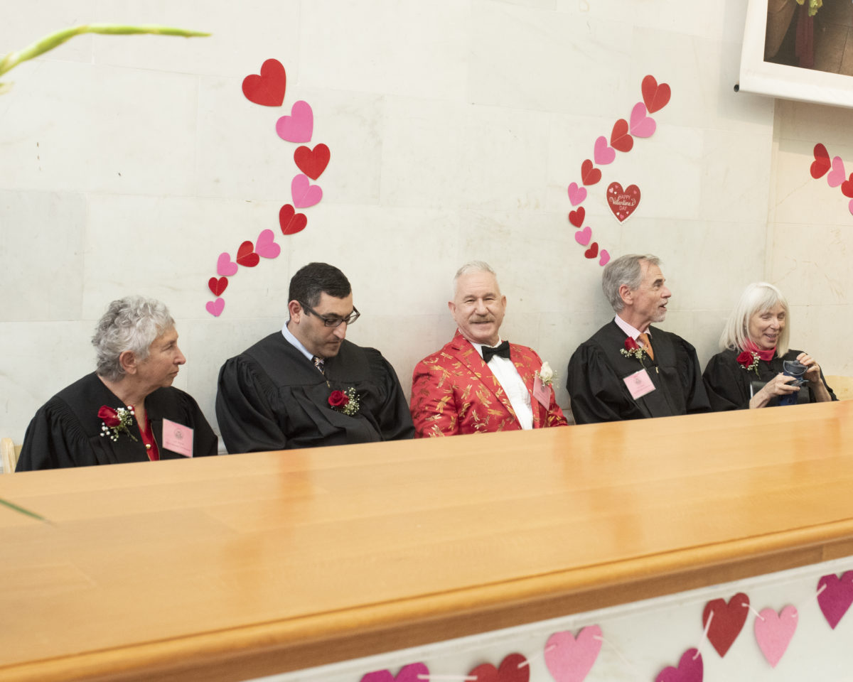 Valentines Officiants waiting their turn