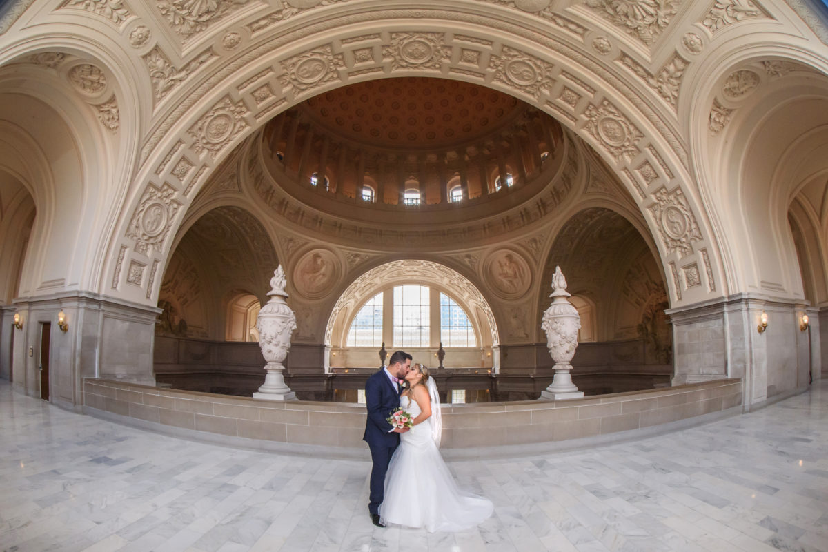 San Francisco Wedding Photography on the 4th floor of city hall