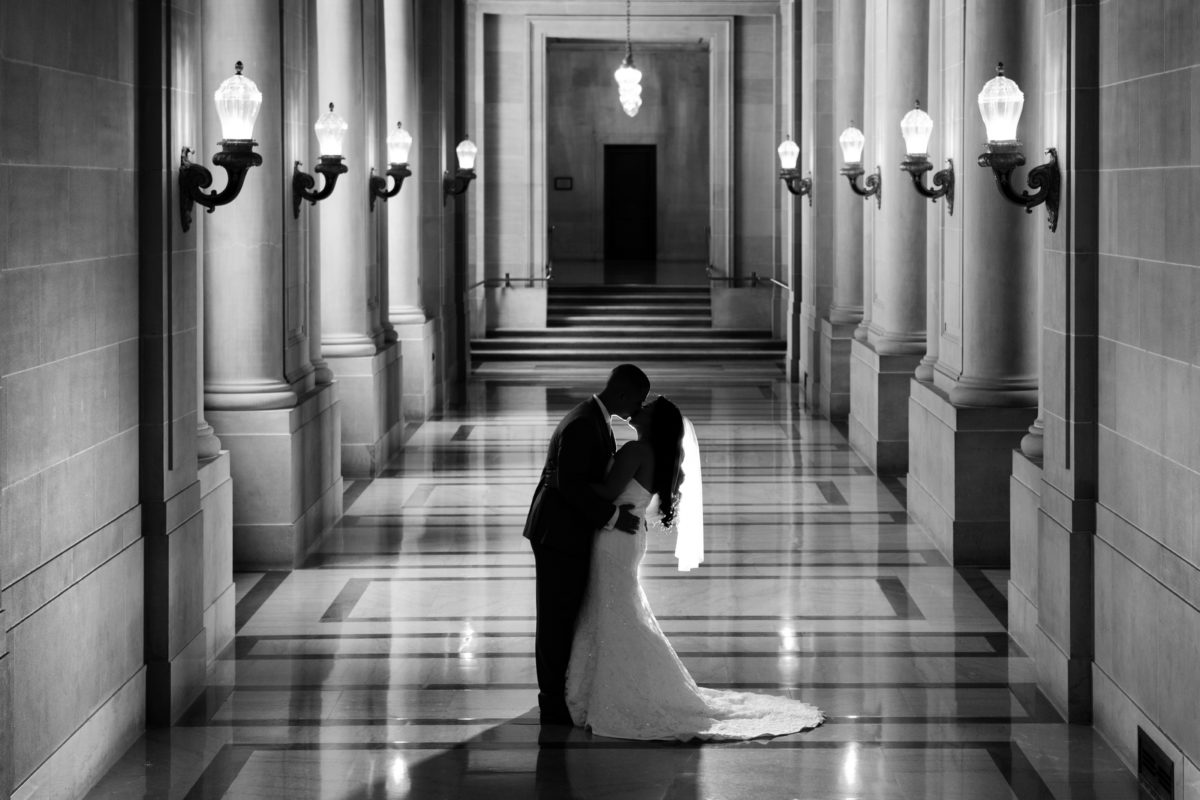 Best SF City Hall wedding photography locations - the 2nd Floor Hallway