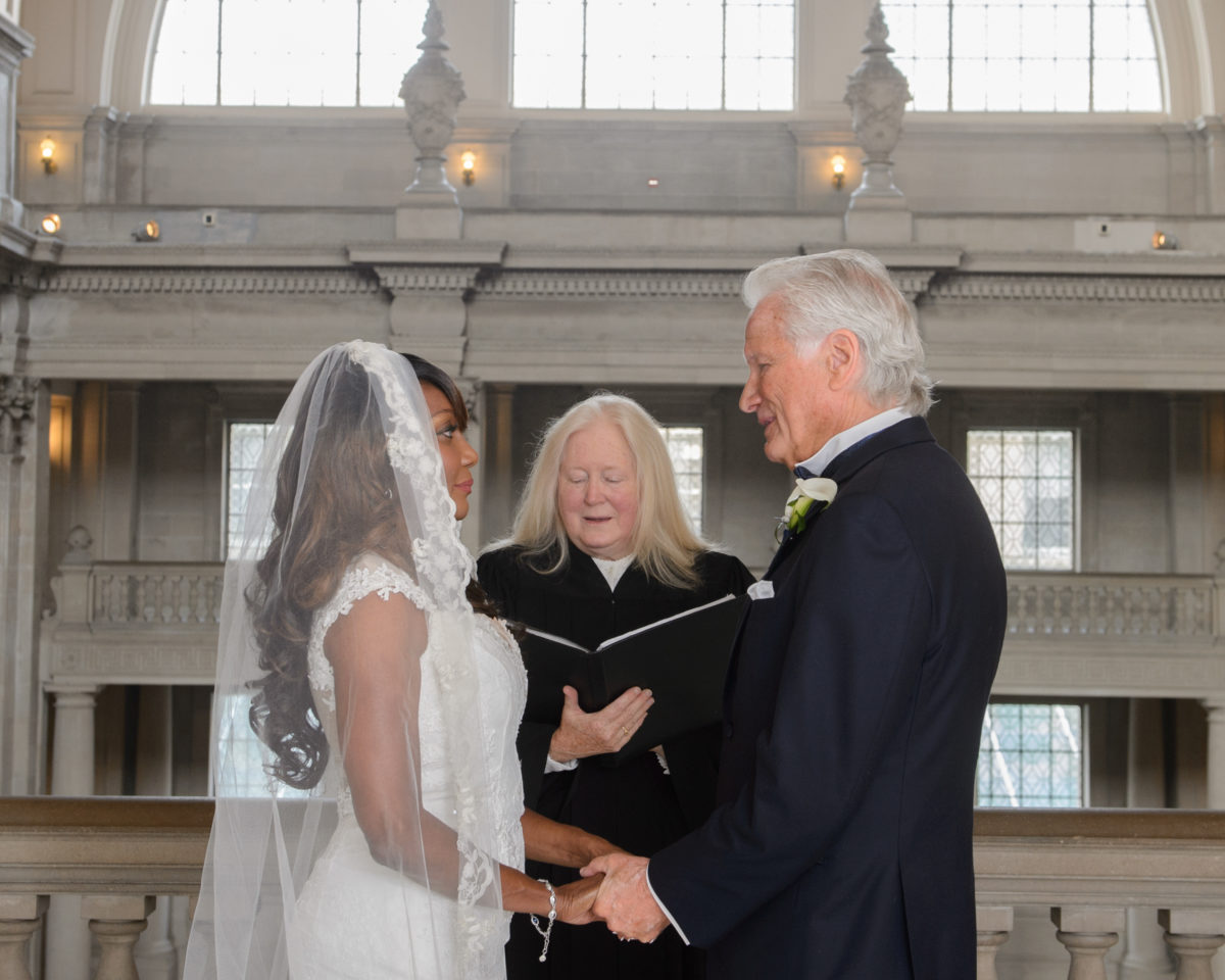 3rd Floor Ceremony with private officiant at San Francisco city hall