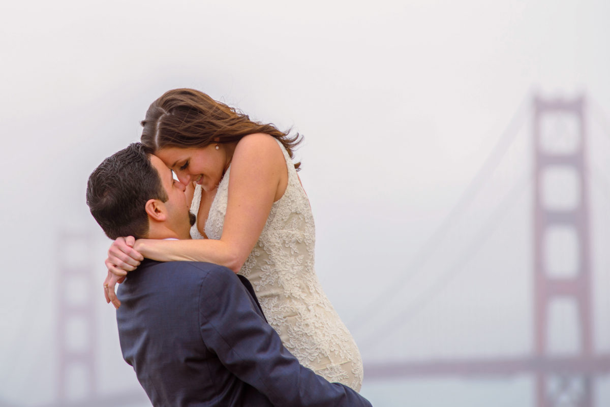 San Francisco Wedding photography in the fog