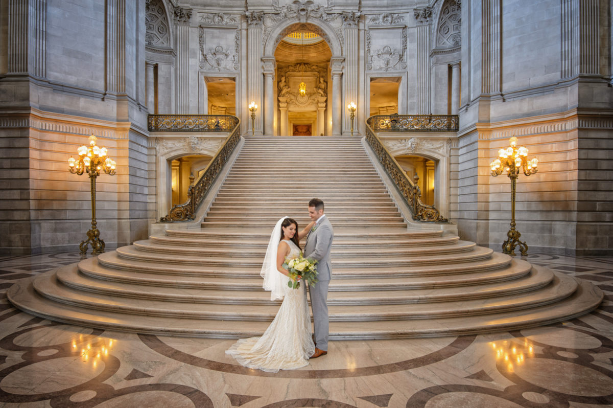 Golden Grand Staircase at San Francisco city hall